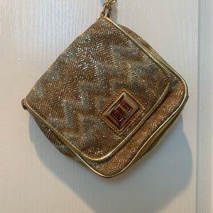 Aldo gold crossbody bag purse
